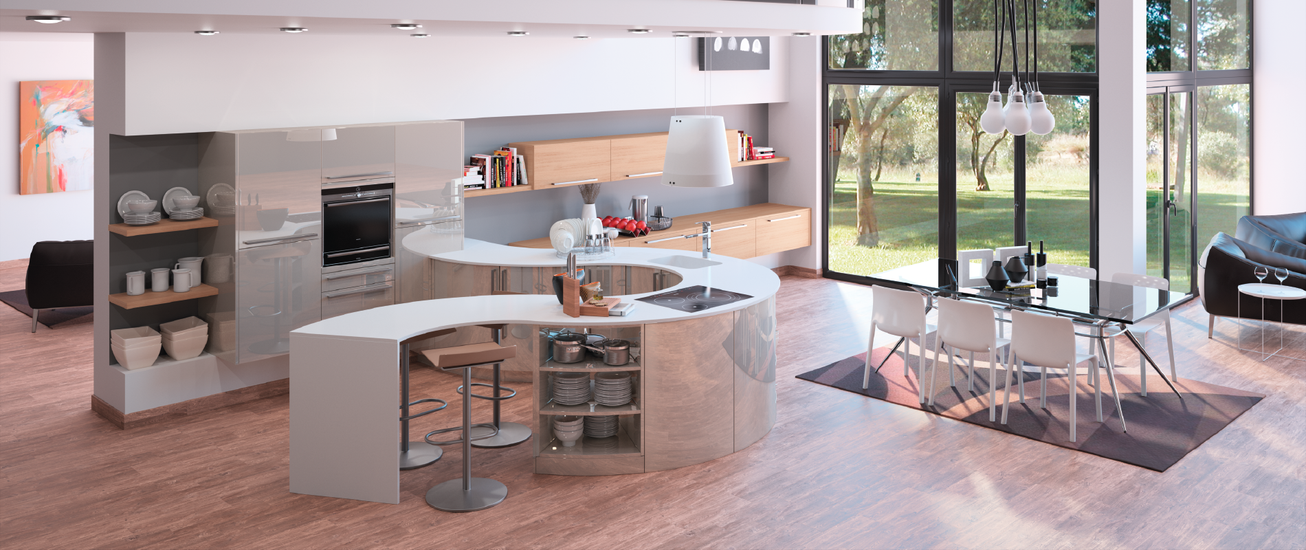 Cuisine design originale alicante zaho qualit sur for Cuisine amenagee sur mesure