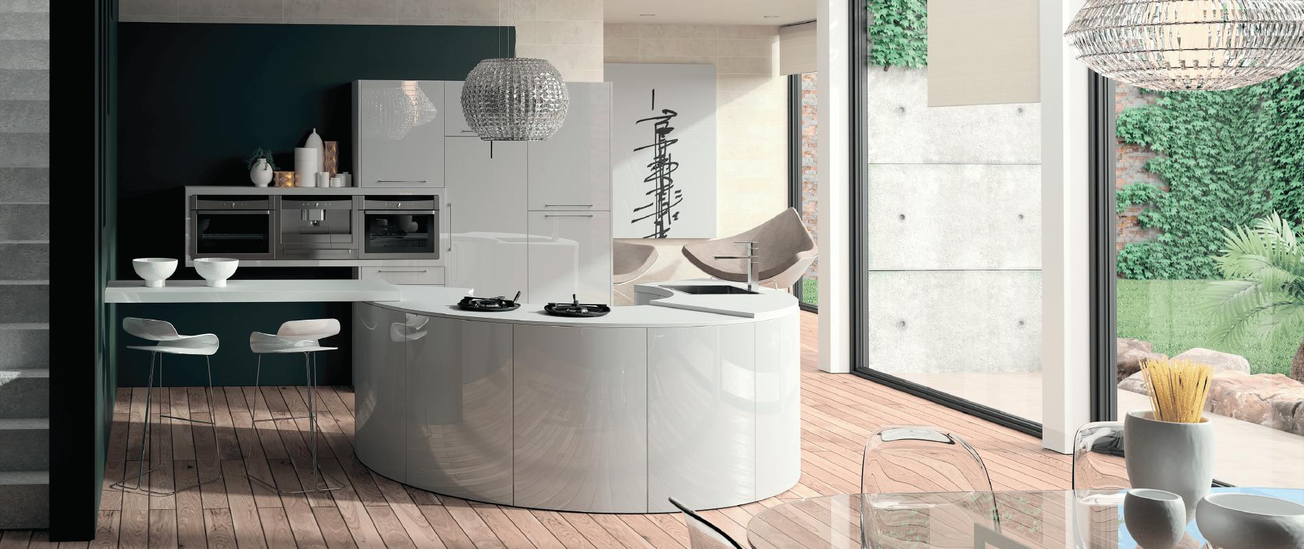 Cuisine quipe blanc laqu image cuisine moderne img1 for Cuisine design