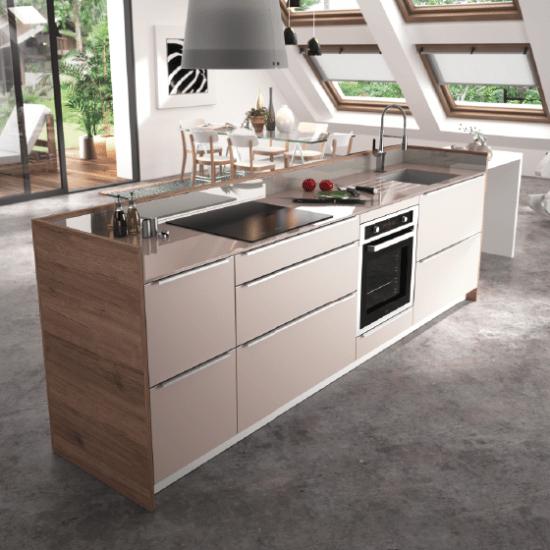 cuisine contemporaine zaho alicante décor bois - haut de gamme ... - Cuisine Equipee Haut De Gamme