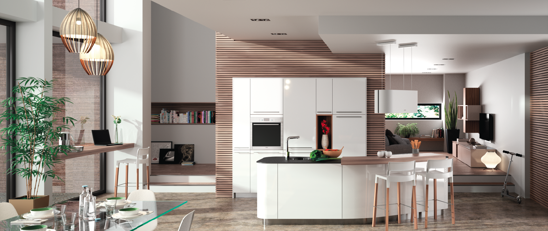 Cuisine design arrondie alicante 1 fabricant cuisiniste for Cuisine equipee catalogue