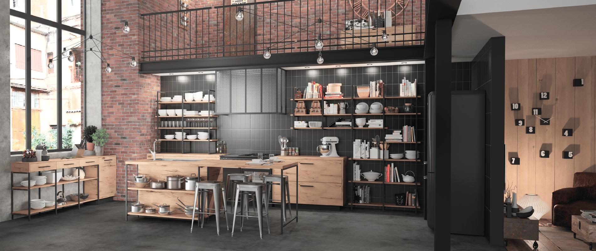 design-industriel-cuisine-metal-bois-fabricant-français