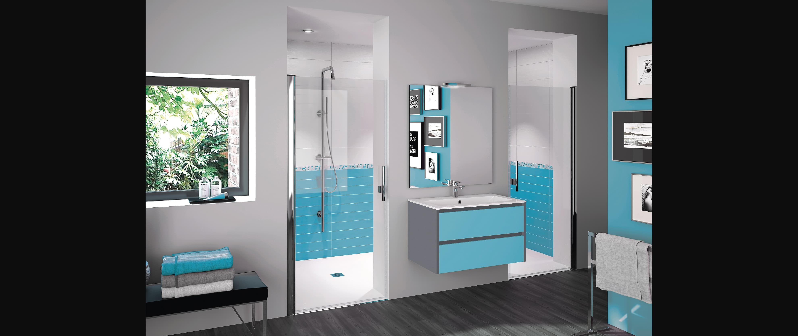 salle de bains zaho design épuré sur mesure