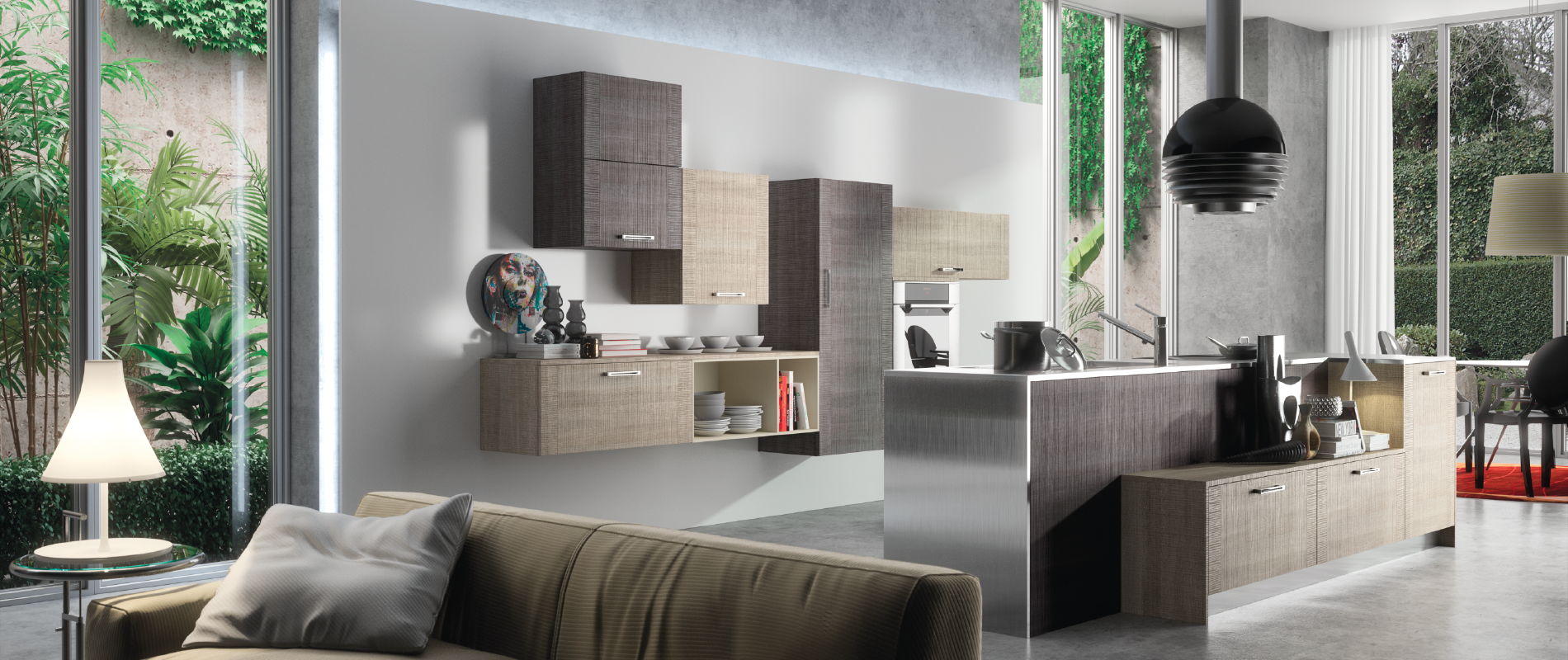 belle cuisine contemporaine emma sur mesure design haut de gamme quip e. Black Bedroom Furniture Sets. Home Design Ideas