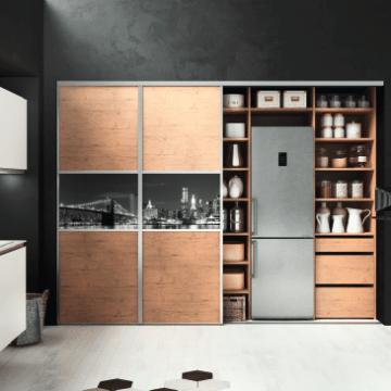 Meubles design Cuisine haut de gamme en bois et contemporaine. Couleur : blanc