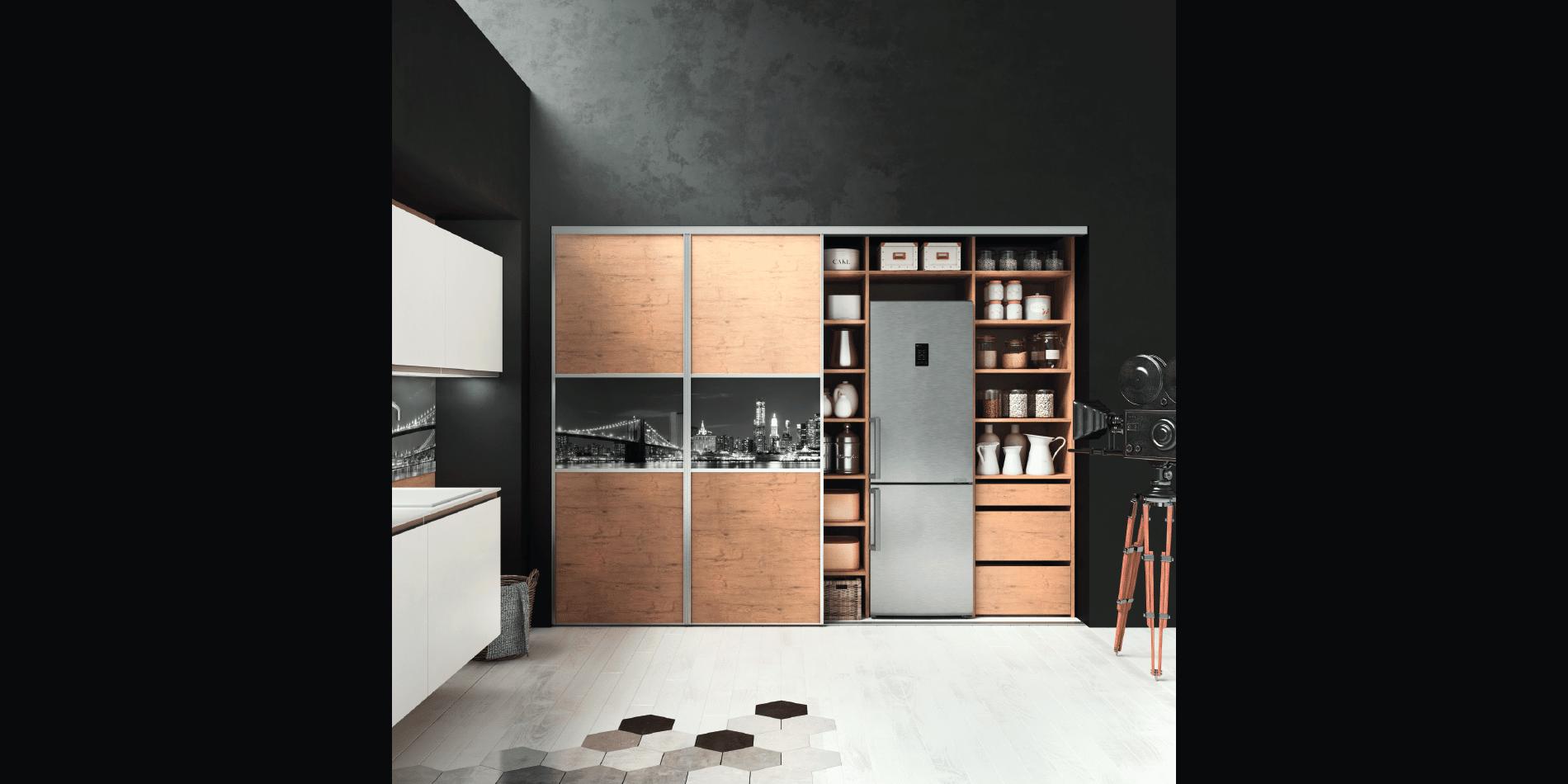 cuisine design hanae sur mesure moderne haut de gamme d cor bois. Black Bedroom Furniture Sets. Home Design Ideas