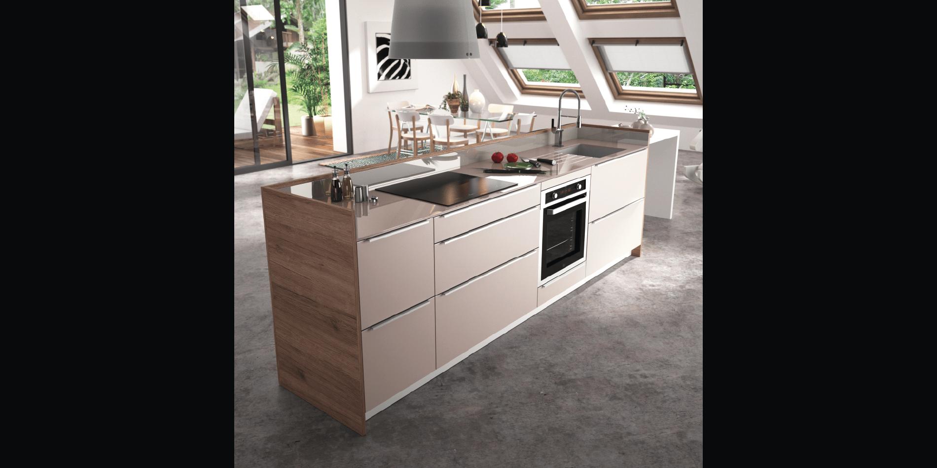 cuisine contemporaine zaho alicante d cor bois haut de gamme sur mesurecuisine contemporaine. Black Bedroom Furniture Sets. Home Design Ideas