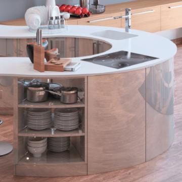 meubles pour cuisine haut de gamme et ronde