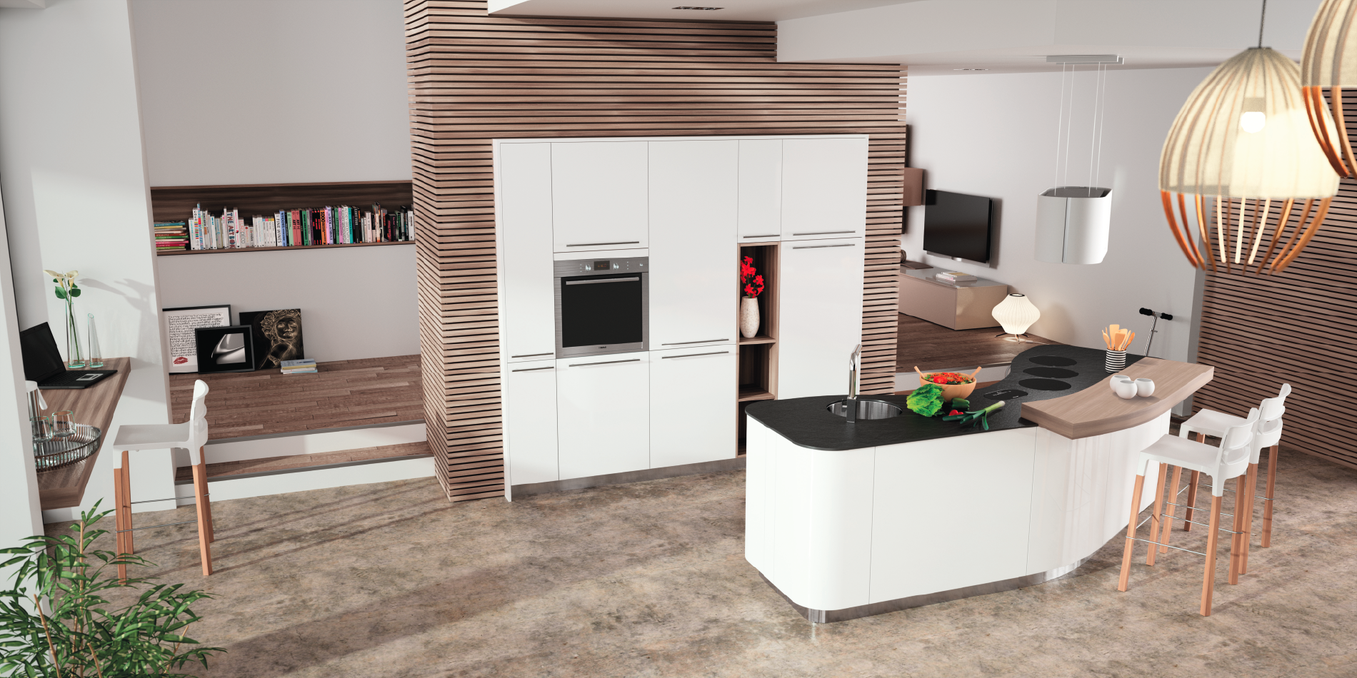 Cuisine design arrondie alicante 1 fabricant cuisiniste for Fabricants cuisines
