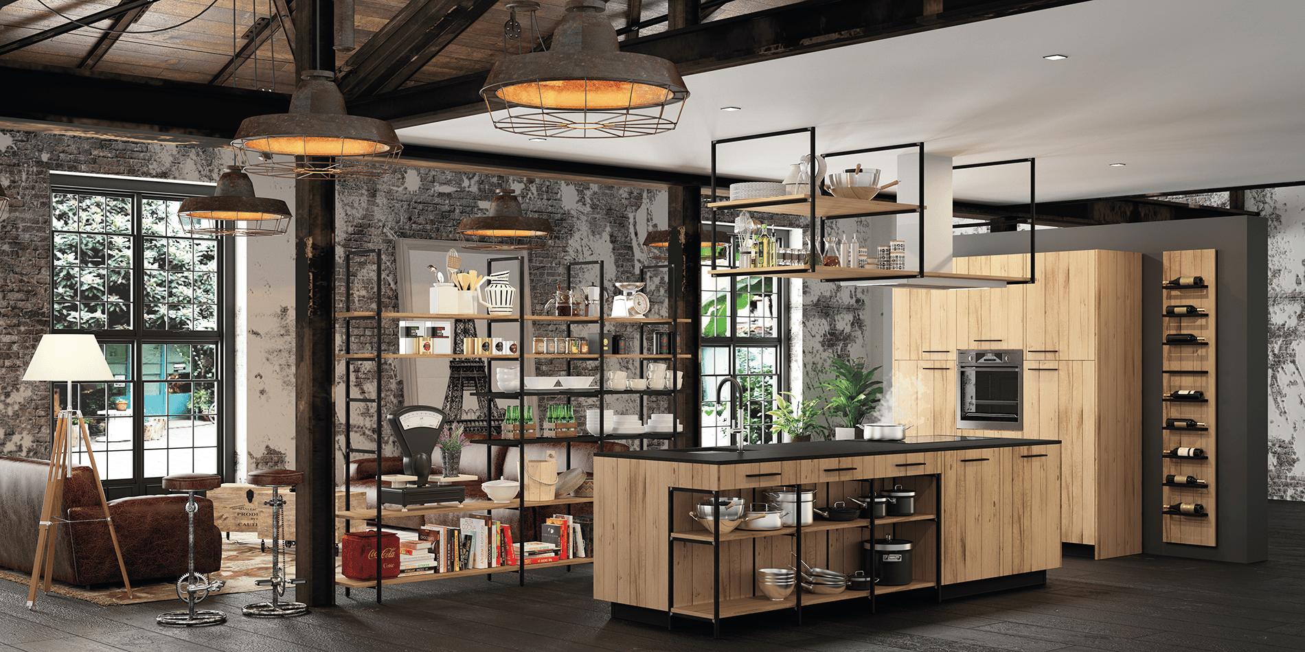Esquisse design ind cuisines morel - Cuisine type industriel ...