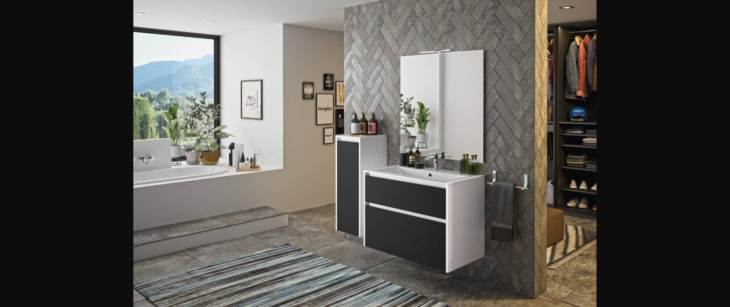 salle de bains zaho noir mat haut de gamme
