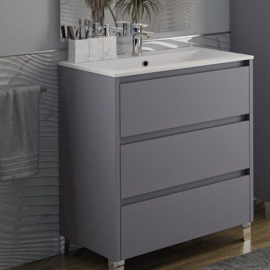 salle de bains kim gris onyx haut de gamme contemporaine