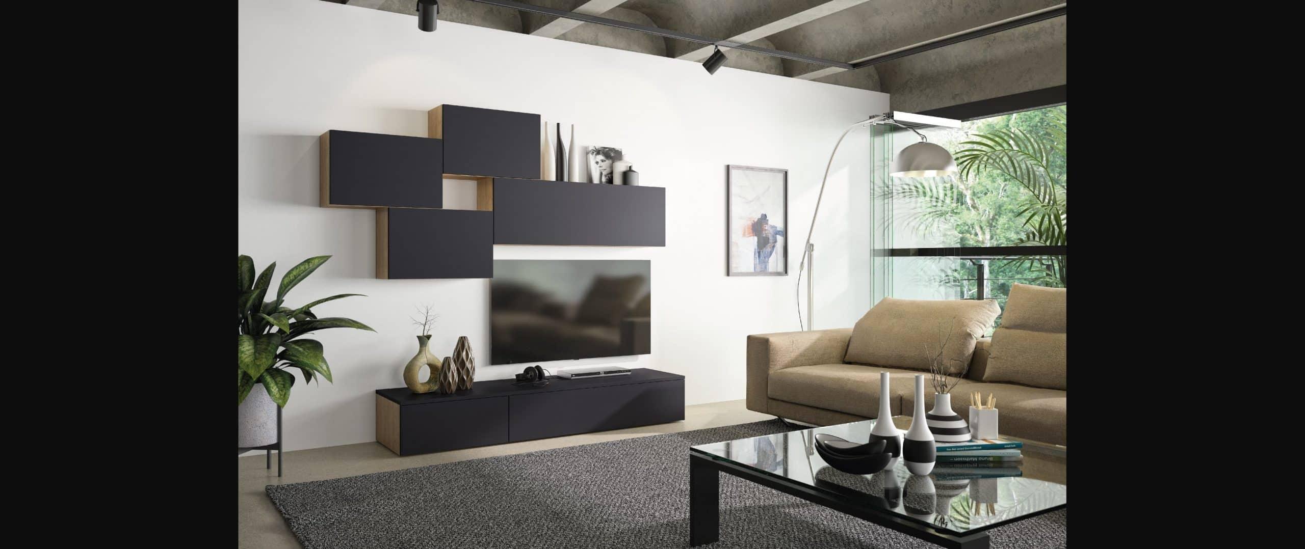 living zenit noir design contemporain