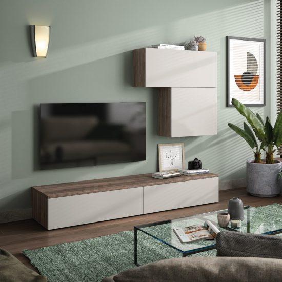 living kim contemporain blanc bois