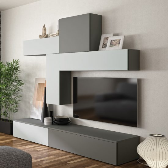 living zenit gris noir design moderne
