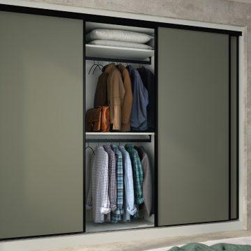 dressing zaho chambre moderne vert olive