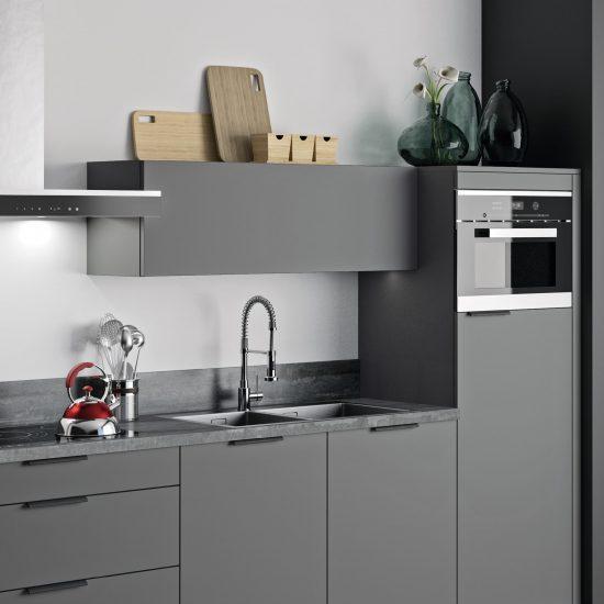 cuisine kim grise noir moderne